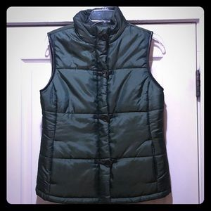 Iridescent Hunter Green Puffer Vest